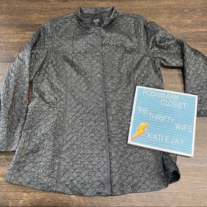Eileen Fisher 100% Silk Quilted Jacket Medium